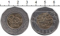 Изображение Монеты Хорватия 25 кун 1999 Биметалл UNC-