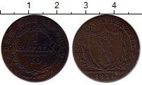 Изображение Монеты Швейцария Аппенцелль-Ауссероден 1 батзен 1816  VF