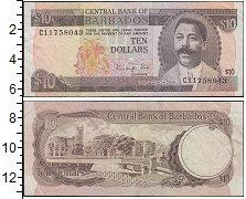 Изображение Банкноты Барбадос 10 долларов 1986  XF-