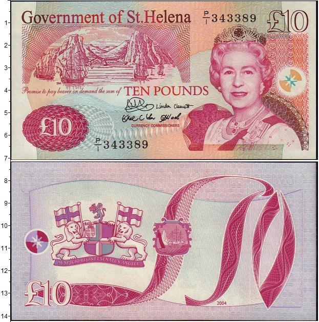 Картинка Банкноты Остров Святой Елены 10 фунтов  2004