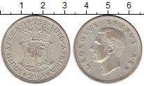 Изображение Монеты ЮАР 2 1/2 шиллинга 1952 Серебро VF