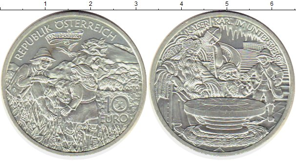 Картинка Монеты Австрия 10 евро Серебро 2010