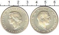 Изображение Монеты Дания 2 кроны 1958 Серебро UNC