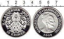 Изображение Монеты Дания 10 крон 2006 Серебро Proof-