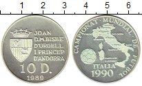 Изображение Монеты Андорра 10 динерс 1989 Серебро Proof-