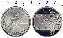 Изображение Монеты Финляндия 10 евро 2005 Серебро Proof-