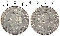 Изображение Монеты Нидерланды 10 гульденов 1970 Серебро XF