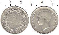 Изображение Монеты Бельгия 2 франка 1911 Серебро VF