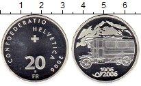Монета Швейцария 20 франков Серебро 2006 UNC фото