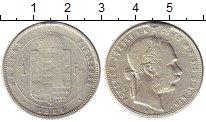 Изображение Монеты Венгрия 1 форинт 1880 Серебро VF-