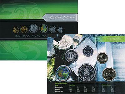 Изображение Подарочные монеты Австралия Набор 2013 года 2013  UNC В набор входят шесть