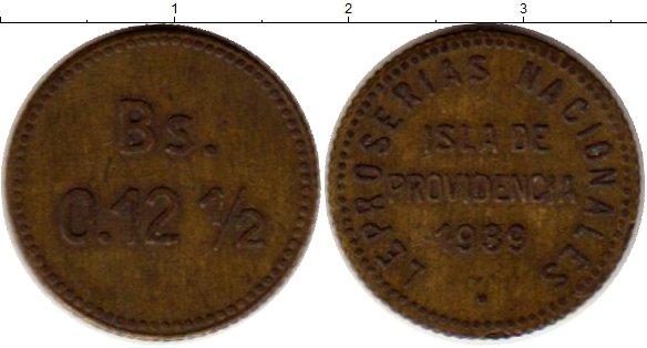 Картинка Монеты Венесуэла 12 1/2 сентима Латунь 1939