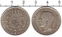 Монета Швеция 1 крона Серебро 1927 XF фото