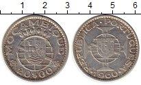 Изображение Монеты Мозамбик 20 эскудо 1960 Серебро XF-