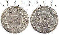 Изображение Монеты Доминиканская республика 1 песо 1972 Серебро UNC-