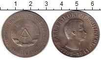 Изображение Монеты ГДР 10 марок 1966 Серебро UNC-