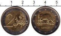 Изображение Мелочь Латвия 2 евро 2016 Биметалл UNC-