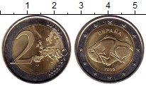 Изображение Мелочь Испания 2 евро 2015 Биметалл UNC-