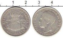 Монета Испания 1 песета Серебро 1901 XF- фото