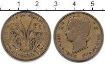 Изображение Монеты Французская Западная Африка 25 франков 1956 Латунь VF