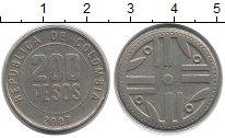 Изображение Монеты Колумбия 200 песо 2007 Медно-никель XF