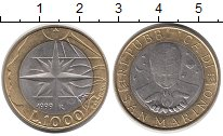 Изображение Монеты Сан-Марино 1000 лир 1999 Биметалл UNC