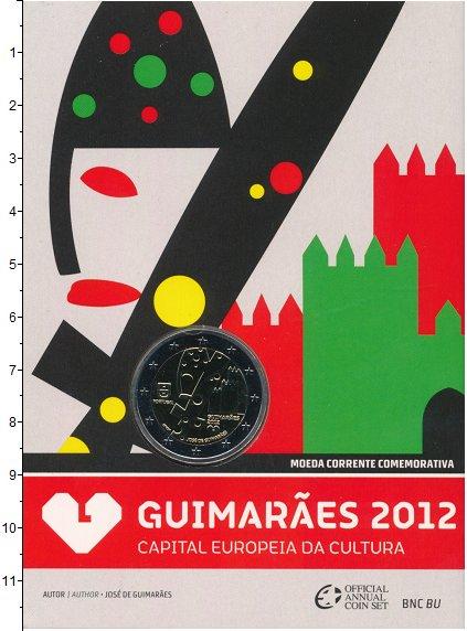 Изображение Подарочные монеты Португалия 2 евро 2012  UNC Гимарайнш- культурна