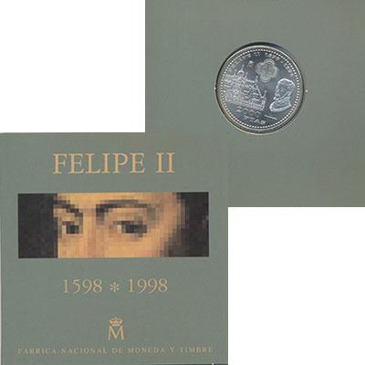 Изображение Подарочные монеты Испания 2000 песет 1998  UNC
