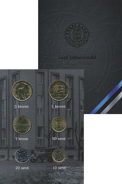 Изображение Подарочные монеты Эстония Набор 1992-1998 гг, 0  UNC В набор входят 4  мо