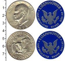 Изображение Подарочные монеты США Набор США 1974 1973 Серебро UNC В наборе  1 доллар и