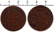 Изображение Монеты Португалия 5 рейс 1738 Медь XF