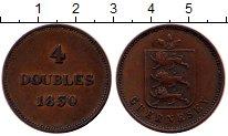 Изображение Монеты Великобритания Гернси 4 дубля 1830 Медь XF