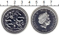Монета Ниуэ 2 доллара Серебро 2018 UNC фото