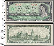 Изображение Банкноты Канада 1 доллар 1967  UNC-