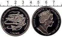 Изображение Монеты Великобритания Фолклендские острова 1 крона 2017 Медно-никель UNC