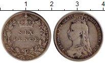 Изображение Монеты Великобритания 6 пенсов 1892 Серебро VF