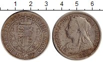 Изображение Монеты Великобритания 1/2 кроны 1899 Серебро VF