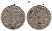 Изображение Монеты Швеция 25 эре 1907 Серебро VF