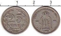 Изображение Монеты Швеция 25 эре 1899 Серебро VF