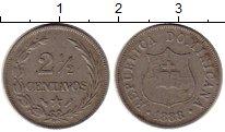 Изображение Монеты Доминиканская республика 2 1/2 сентаво 1883 Медно-никель XF