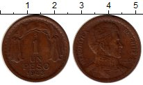 Изображение Монеты Чили 1 песо 1943 Бронза VF