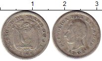 Изображение Монеты Эквадор 1/2 десимо 1902 Серебро VF