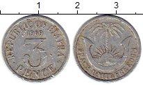 Изображение Монеты Биафра 3 пенса 1969 Алюминий XF-