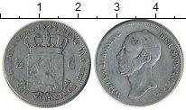 Изображение Монеты Нидерланды 1/2 гульдена 1848 Серебро VF