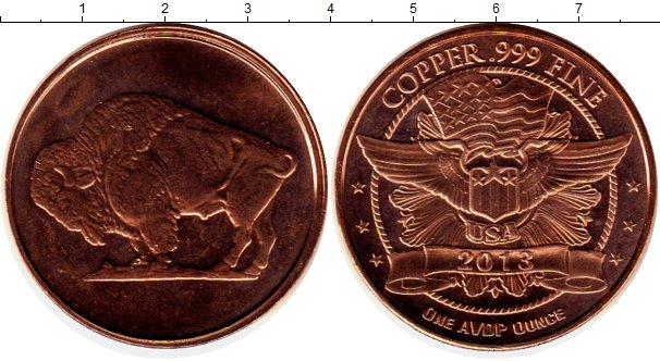 Картинка Мелочь США 1 унция Медь 2013