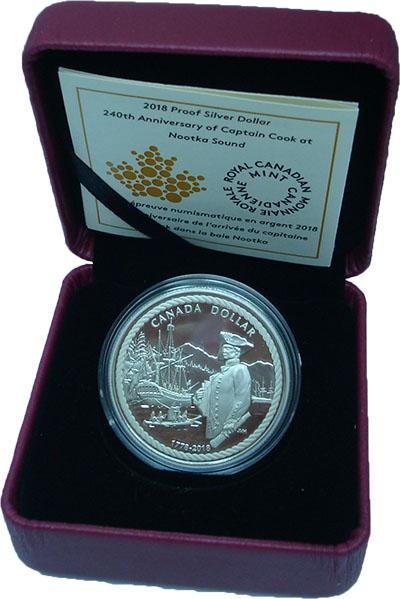 Изображение Подарочные монеты Канада 1 доллар 2018 Серебро Proof