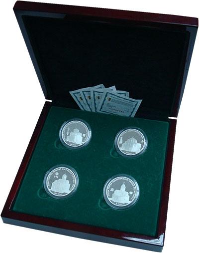 Изображение Подарочные монеты Абхазия Исторические Памятники Абхазии 2010 Серебро Proof