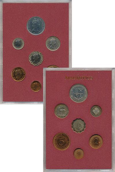 Изображение Подарочные монеты Маврикий Набор 1978 года 1978  UNC- Годовой набор Маврик