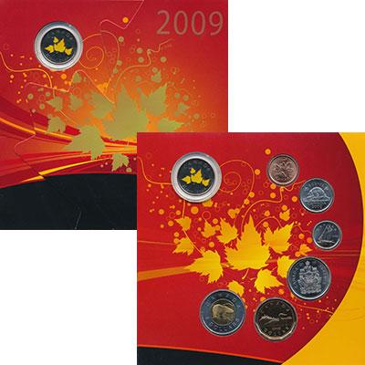 Изображение Подарочные монеты Канада Набор 2009 года 2009  UNC Годовой набор Канады