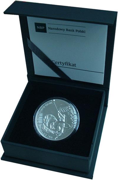 Изображение Подарочные монеты Польша Олимпийские игры в РИО 2016 Серебро Proof Рио-де-Жанейро 2016.